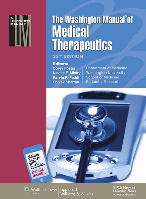 (MMT)The Washington Manual of Medical Therapeutics, 33/e