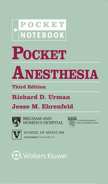 Pocket Anesthesia-3판(2016.10)