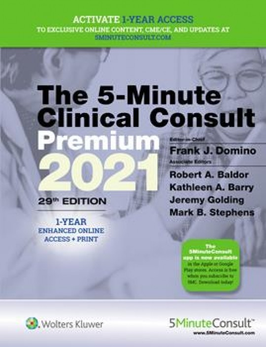 5-Minute Clinical Consult 2021 Premium-29판