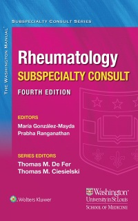Washington Manual Rheumatology Subspecialty Consult-3판