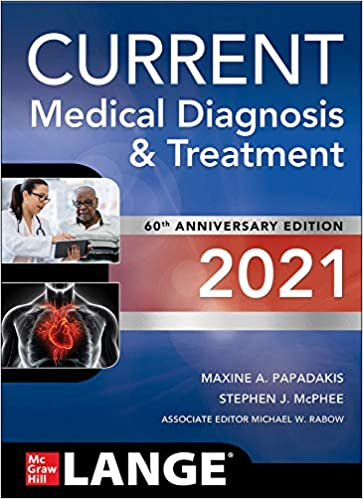CURRENT Medical Diagnosis and Treatment 2021-60판(CMDT) -IE판